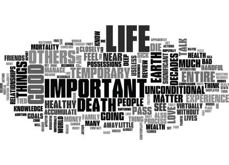 WHAT IS IMPORTANT IN LIFE TEXT WORD CLOUD CONCEPT