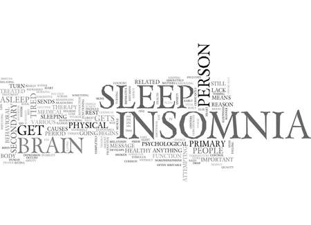 WHAT IS INSOMNIA TEXT WORD CLOUD CONCEPT