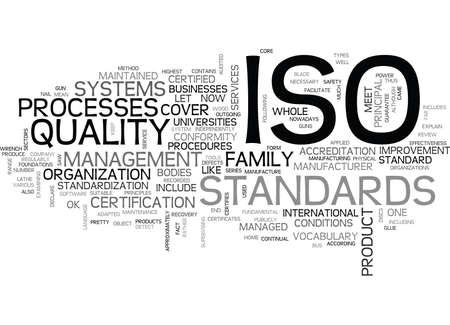 ISO テキスト WORD クラウド コンセプトは何です。