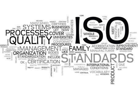 WHAT IS ISO TEXT WORD CLOUD CONCEPT