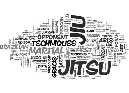 WHAT IS JIU JITSU TEXT WORD CLOUD CONCEPT