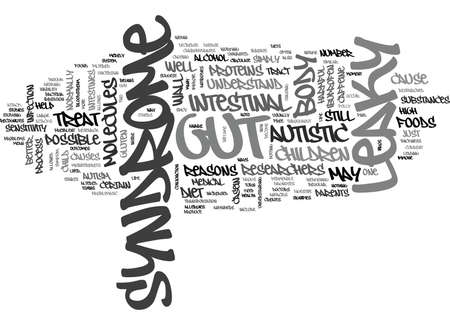 WHAT IS LEAKY GUT SYNDROME TEXT WORD CLOUD CONCEPT