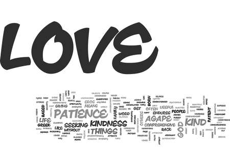 agape: WHAT IS LOVE AND HOW DO I GET IT TEXT WORD CLOUD CONCEPT