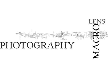 WHAT IS MACRO PHOTOGRAPHY TEXT WORD CLOUD CONCEPT