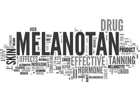 unavailability: WHAT IS MELANOTAN II TEXT WORD CLOUD CONCEPT