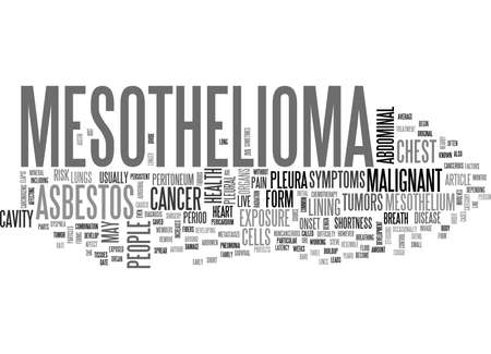 WHAT IS MESOTHELIOMA TEXT WORD CLOUD CONCEPT