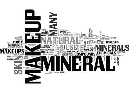 WHAT IS MINERAL MAKEUP TEXT WORD CLOUD CONCEPT