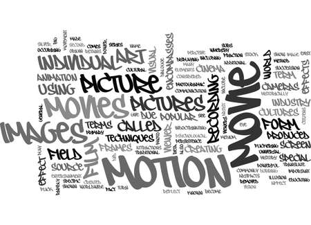 WHAT IS MOVIE AND MOVIE HISTORY TEXT WORD CLOUD CONCEPT