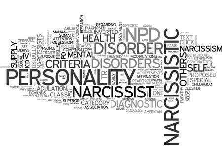 proposed: WHAT IS NARCISSISM TEXT WORD CLOUD CONCEPT Illustration