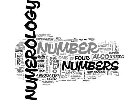 WHAT IS NUMEROLOGY TEXT WORD CLOUD CONCEPT