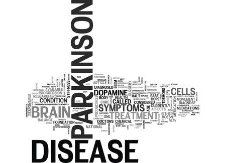 WHAT IS PARKINSON DISEASE TEXT WORD CLOUD CONCEPT Illustration