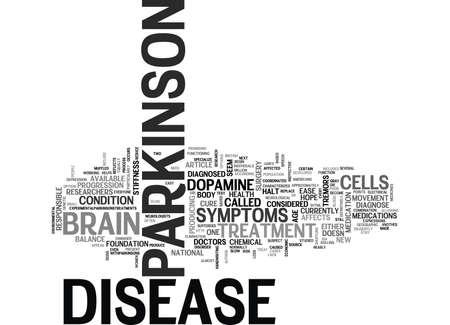slowness: WHAT IS PARKINSON DISEASE TEXT WORD CLOUD CONCEPT Illustration