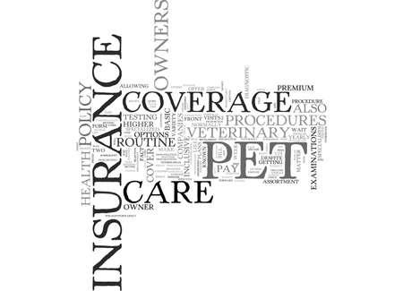 PET HEALTH INSURANCE 텍스트 단어 란 무엇인가?