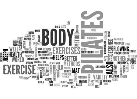 WHAT IS PILATES TEXT WORD CLOUD CONCEPT