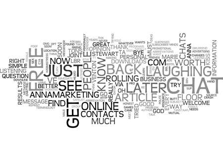 WHERE DO YOU FIND YOUR CONTACTS TEXT WORD CLOUD CONCEPT