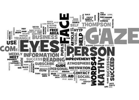 WHERE DO YOUR EYES GAZE TEXT WORD CLOUD CONCEPT 向量圖像