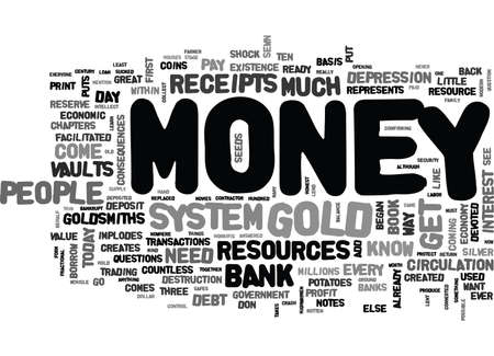 WHERE DOES MONEY COME FROM TEXT WORD CLOUD CONCEPT