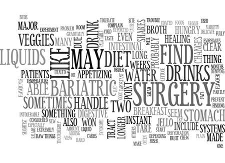 WHAT SHOULD WE DO AFTER BARIATRIC SURGERY TEXT WORD CLOUD CONCEPT