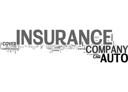 WHAT SHOULD YOU LOOK FOR IN AN AUTO INSURANCE COMPANY TEXT WORD CLOUD CONCEPT Stock Vector - 79615782