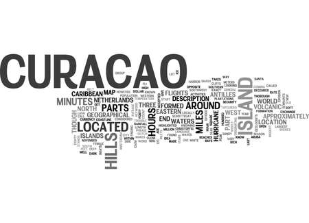 WHERE IS CURACAO LOCATED TEXT WORD CLOUD CONCEPT