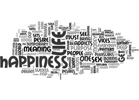 WHERE IS HAPPINESS TEXT WORD CLOUD CONCEPT