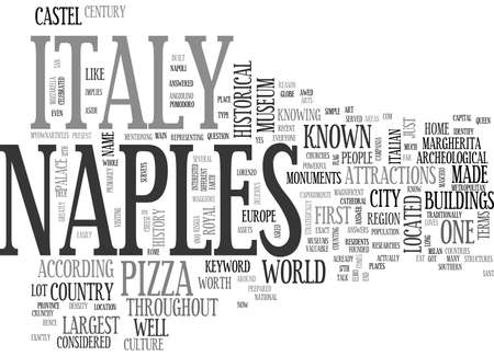 according: WHERE IS NAPLES ITALY TEXT WORD CLOUD CONCEPT Illustration