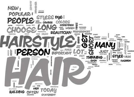その髪の毛はどこにテキストワードクラウドの概念を上にしています