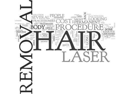 differs: WHAT THE COST OF LASER HAIR REMOVAL CAN MEAN FOR YOUR TREATMENT TEXT WORD CLOUD CONCEPT