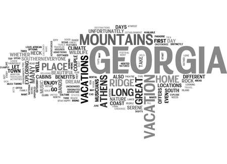 WHAT THE HECK LET S GO TO GEORGIA TEXT WORD CLOUD CONCEPT