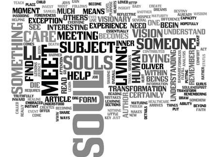 contributed: WHERE SOULS MEET TEXT WORD CLOUD CONCEPT