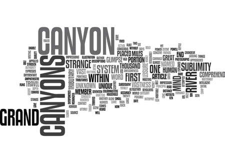 WHAT THEN IS THIS GRAND CANYON TEXT WORD CLOUD CONCEPT