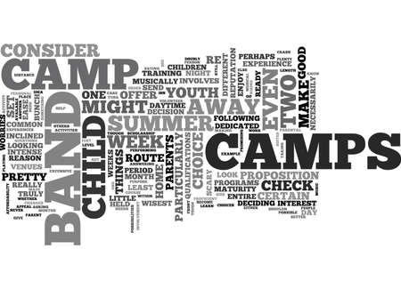 tough: WHAT TO CONSIDER WITH BAND CAMPS TEXT WORD CLOUD CONCEPT