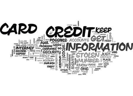 WHAT TO DO IF CREDIT CARD IS STOLEN LET COMMON SENSE GUIDE TEXT WORD CLOUD CONCEPT