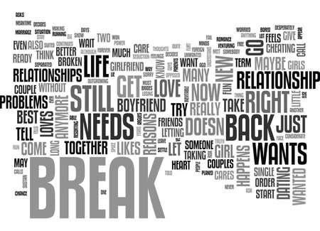 WHAT TO DO IF SHE JUST NEEDS A BREAK TEXT WORD CLOUD CONCEPT