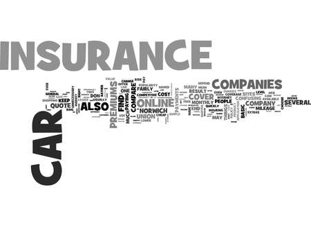 WHERE TO FIND CHEAP CAR INSURANCE ONLINE TEXT WORD CLOUD CONCEPT