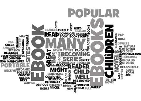 WHERE TO FIND CHILDRENS EBOOKS TEXT WORD CLOUD CONCEPT  イラスト・ベクター素材