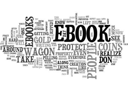WHY SHOULD YOU PROTECT YOUR EBOOK TEXT WORD CLOUD CONCEPT