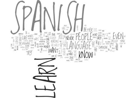 WHY SOME PEOPLE DONT WANT TO LEARN SPANISH TEXT WORD CLOUD CONCEPT