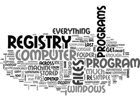 WINDOWS REGISTRY SAFE WAYS TO SPEED YOUR COMPUTER TEXT WORD CLOUD CONCEPT