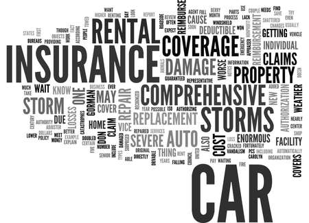 WILL YOUR AUTO INSURANCE WEATHER THE STORM TEXT WORD CLOUD CONCEPT Illustration