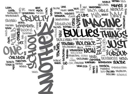 WILL YOUR CHILD DIE OF BULLYCIDE TEXT WORD CLOUD CONCEPT