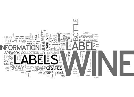 event planning: WINE LABELS EXPLAINED TEXT WORD CLOUD CONCEPT
