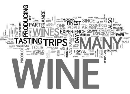 WINE TRAVEL TEXT WORD CLOUD CONCEPT Çizim