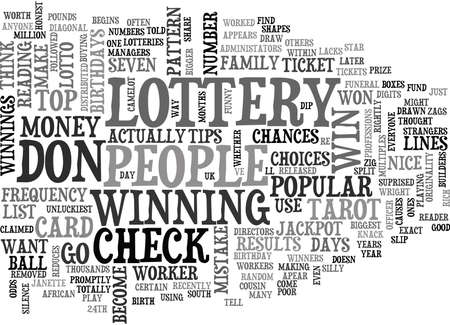 anyone: WIN THE LOTTERY TIPS TEXT WORD CLOUD CONCEPT