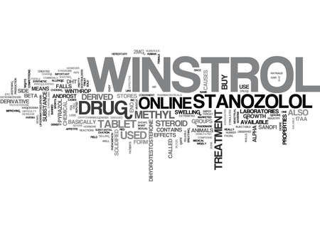 WINSTROL THE STANOZOLOL DRUG FROM WINTHROP LABORATORIES TEXT WORD CLOUD CONCEPT Illustration