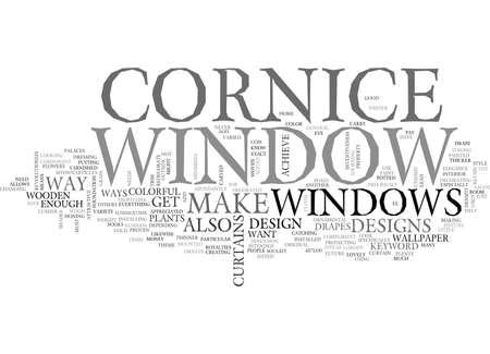 WINDOW CORNICE TEXT WORD CLOUD CONCEPT