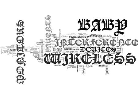 WIRELESS BABY MONITORS NIGHT DAY TEXT WORD CLOUD CONCEPT Ilustrace