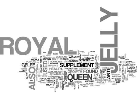WHAT IS ROYAL JELLY TEXT WORD CLOUD CONCEPT