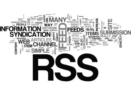 RSS는 무엇이며 텍스트가 필요합니까?