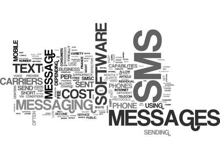 WHAT IS SMS TEXT WORD CLOUD CONCEPT Illustration